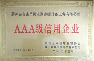 AAA级 信用单位